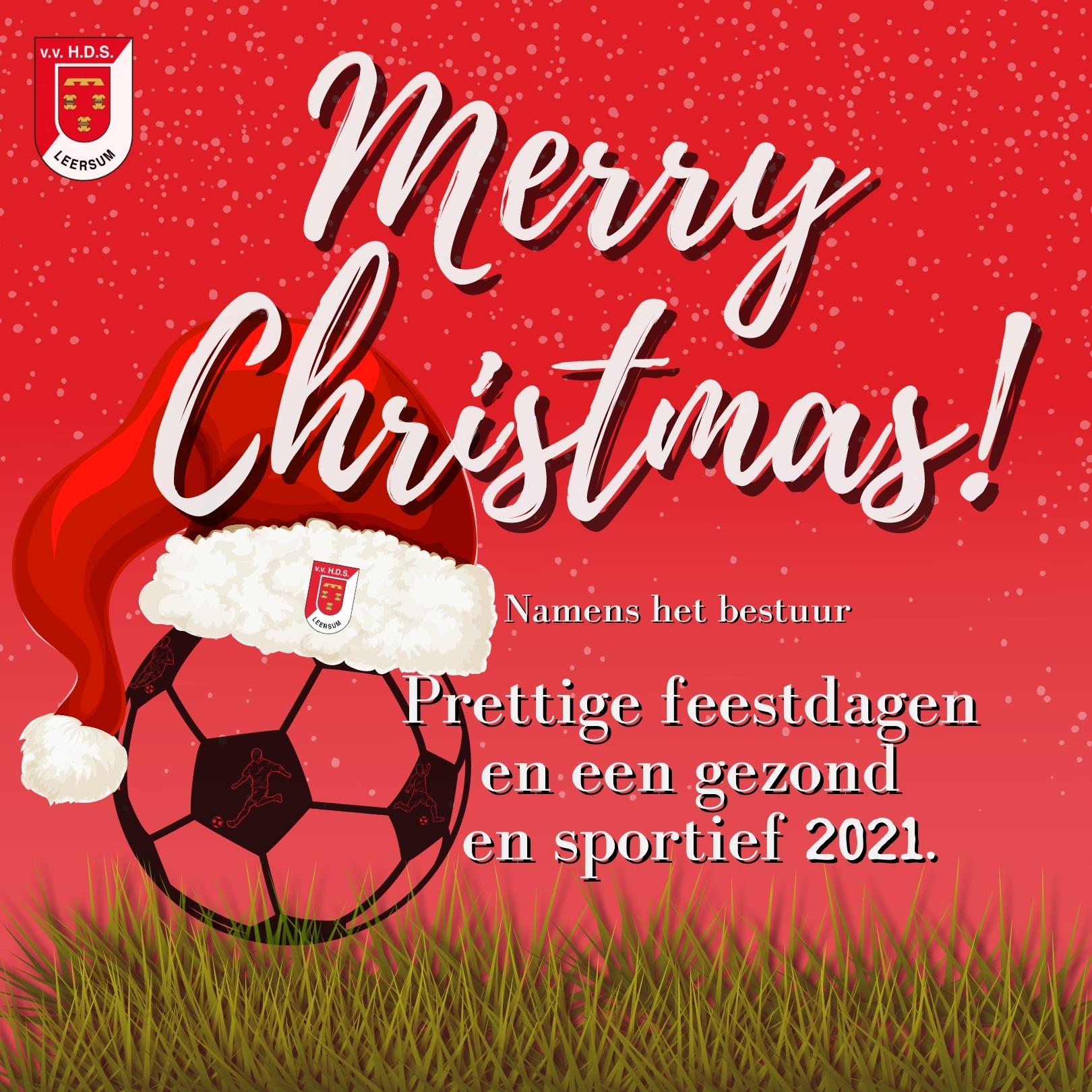 Gezellige feestdagen en een gezond en sportief 2021!